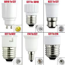 b22 e14 e27 gu10 base socket adapter converter holder for led