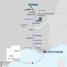 Lyon France Map Lyon River Cruises Avalon Waterways