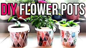 diy flower pots recycle yogurt containers recycled crafts