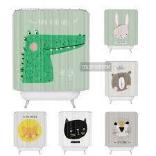 Curtain Cartoon by 2017 Fashion Creative Shower Curtain Cartoon Bear And Rabbit