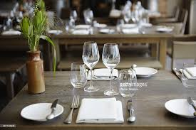 table setting in boutique hotel stock photo getty images