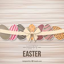 easter ribbon decorated easter eggs with a ribbon vector free