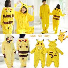 kid baby pikachu kigurumi pajamas costume