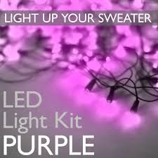 Purple Led Halloween Lights Light Up Your Ugly Christmas Or Halloween Sweater With Battery