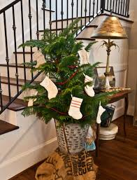 simple christmas decorations with greenery and ribbon