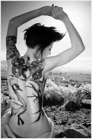 amazing back swan tattoo design of tattoosdesign of tattoos