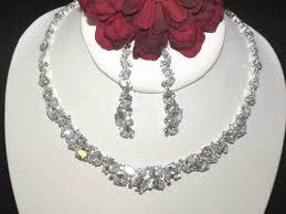 cubic zirconia necklace set images Janelle dazzling cubic zirconia bridal necklace set amazing jpg