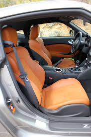 nissan 370z interior 2017 nissan 370z grey and orange and black interior 350 z brown auto
