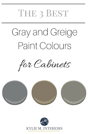 best gray paint for kitchen cabinets the 3 best gray and greige colours for cabinets and vanities