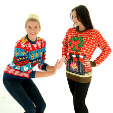 flashing fireplace light up christmas sweater uk import