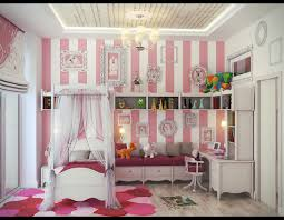 little girls room ideas with nice stripes wall decor and nice