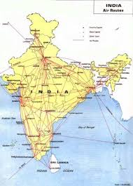 Flight Routes Map by Indian Air Route Map Hillstations Beaches Historical Places By