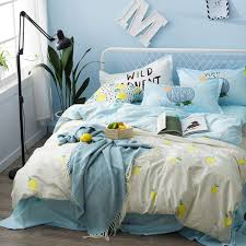 Blue Bed Set Online Get Cheap Lemon Bedding Sets Aliexpress Com Alibaba Group