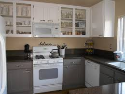 Painting Kitchen Cabinets Simple Painting Kitchen Cabinets Antique White Before And After