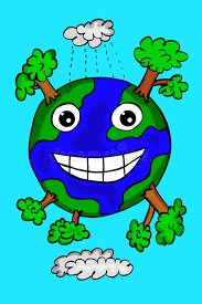 hand draw sketch of happy earth stock vector image 44964345