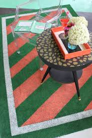 Fake Grass Outdoor Rug The Diy Designer Painted Astroturf Outdoor Rug