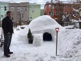 igloo brooklyn man builds igloo in backyard and lists it on airbnb ny