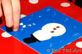 christmas card making kids red ted art u0027s blog
