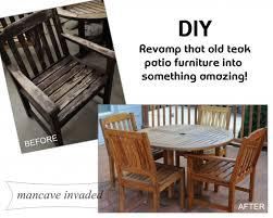 Teak Patio Outdoor Furniture by Teak Patio Furniture Mancave Invaded