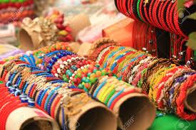 multi colored ethnic bracelets esoteric jewelery indian