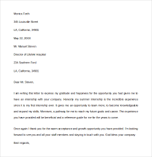 sample internship thank you letter 9 free documents in pdf word