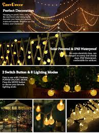 easydecor globe solar string lights 30 led 21ft 8