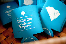 wedding koozie custom koozie favors archives southern weddings