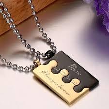 couple necklace images Lock couple necklace pendants for men women quot i love you jpg