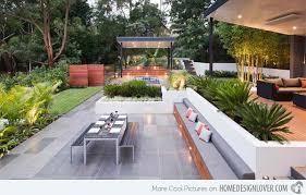 Cool Backyard Patio Ideas Decosee Outdoors Pinterest - Modern backyard designs