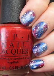 patriotic galaxy nail art adventures in acetone
