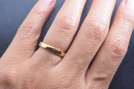 3mm ring 3mm yellow gold tungsten carbide wedding band timeless fate llc