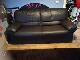 Leather Like Sofa Large Leather Like Sofa In Louth Lincolnshire Gumtree