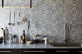 Duquesa Fatima Pattern Mezzanote Traditional Kitchen Los - Walker zanger backsplash
