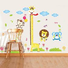 stickers girafe chambre bébé girafe hauteur autocollants enfants chambre de bébé grandir
