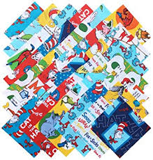 dr seuss assorted gift wrapping paper robert kaufman dr seuss precut 5 inch cotton fabric
