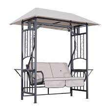 Swing Bed With Canopy Aosom Outsunny 2 Person Patio Swing Chair W Canopy Shade