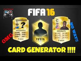 create your own card fifa 16 create your own card