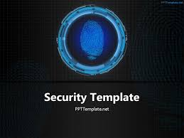 free network security presentation template animated network