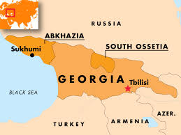 south ossetia map abkhazia south ossetia map