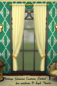 Vintage Green Curtains Sims 4 Cc U0027s The Best Vintage Glamour Curtains Edited Part 1