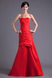 cheap elegant a line strapless floor length satin bridesmaid dress