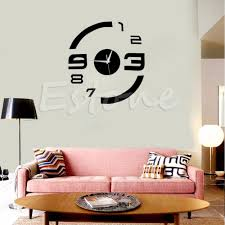 compare prices on number wall online shopping buy low price sticker new modern diy mirror surface number decal wall clock sticker home office decor china