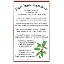 merry christmas from heaven bookmark prayer card pkg of 25