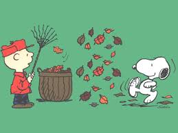 brown and snoopy is it autumn yet snoopy