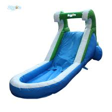 backyards trendy inflatable water slide outdoor pool kids fun