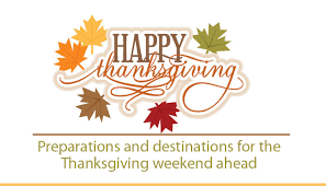 preparations and destinations for the thanksgiving weekend ahead