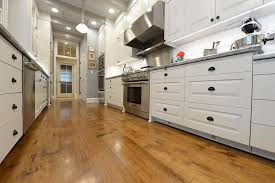 distressed hardwood flooring in kitchen robinson house