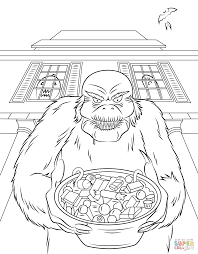 goosebumps coloring pages goosebump the werewolf coloring page