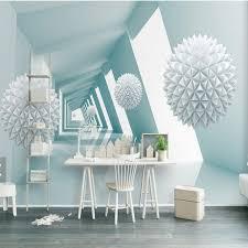 wandbilder fã r schlafzimmer 3d abstrakte tapete blau bau wandbild für wohnzimmer