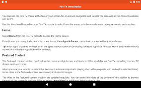 user guide for fire tv u0026 stick android apps on google play
